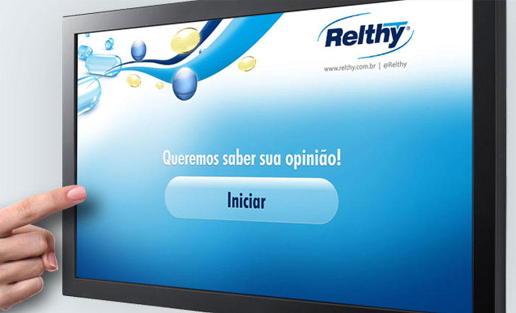 Sistema interativo touch screen - Relthy
